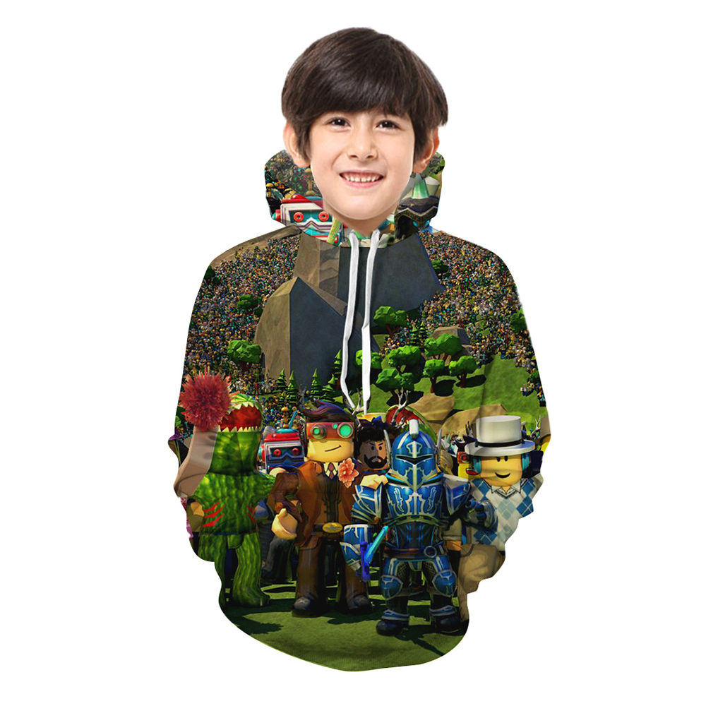 Kids Roblox 3d Hoodie Fever Series Pullover And Similar Items