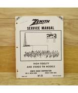 Zenith Service Manual HF 25 High Fidelity & Stereo FM Models Part # 923-669 - $11.87