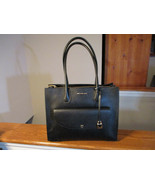 Authentic Michael Kors Mercer XL Pocket Tote  Pebbled Leather Black $358... - $217.79