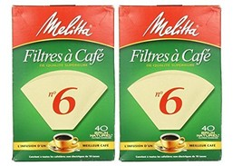 Melitta Cone Coffee Filters Number 6 40 Count (Pack of 2) - $12.02