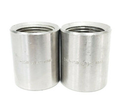 "LOT OF 2 NEW GENERIC 3/4-150-304 COUPLINGS, 3/4"", 150#, 304 STAINLESS STEEL"