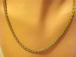 """Necklace Gold Chain Twisted Strands 19"""" Long - $14.80"""