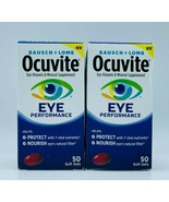 2x Bausch + Lomb Ocuvite Eye Performance 50 Soft Gels Each Exp 08/2021 F... - $16.99