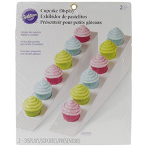 White Cupcake Display Stand Double Row Displays... - $12.95