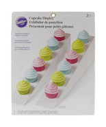 White Cupcake Display Stand Double Row Displays Triangle Stands 2 Pk Par... - $12.95