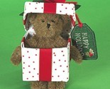 "Boyds Bears ""HAPPY HOLIDAYS"" #4014792- 6"" PLUSH Bear- NEW- RETIRED"