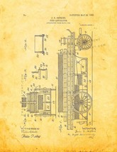 Fire Apparatus Patent Print - Golden Look - $7.95+
