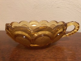 Vintage Fostoria Amber Coin Pattern Nappy Bowl Glass - $5.00