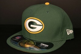 GREEN BAY PACKERS NEW ERA 5950 NFL ON-FIELD GAME FITTED HAT SIZE 7 1/4 NWT - $22.75