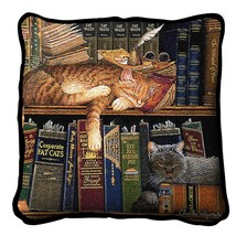 "Remington The Well Read Throw Pillow 17"" x 17"" 100% Cotton Weave Made In... - $46.74"