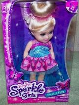 "Funville Sparkle Girlz Sparkle Tots 6""H Girl Blonde Bun Doll New - $8.79"