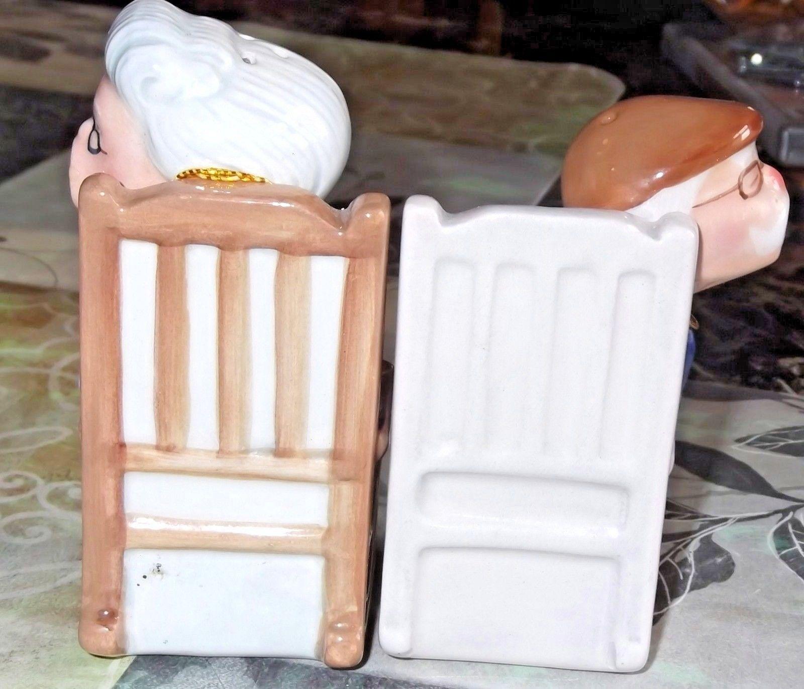 Super Cute Magnetic Kissing Grandma & Grandpa in Rockin Chairs