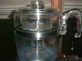 Vintage Pyrex Flameware 6-9 Cup Percolator Missing Glass Stem Have Steel... - $128.69