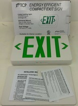 NEW TCP Energy Efficient LED Exit Sign Green 120V/277V Double Sided 22745  - $19.79