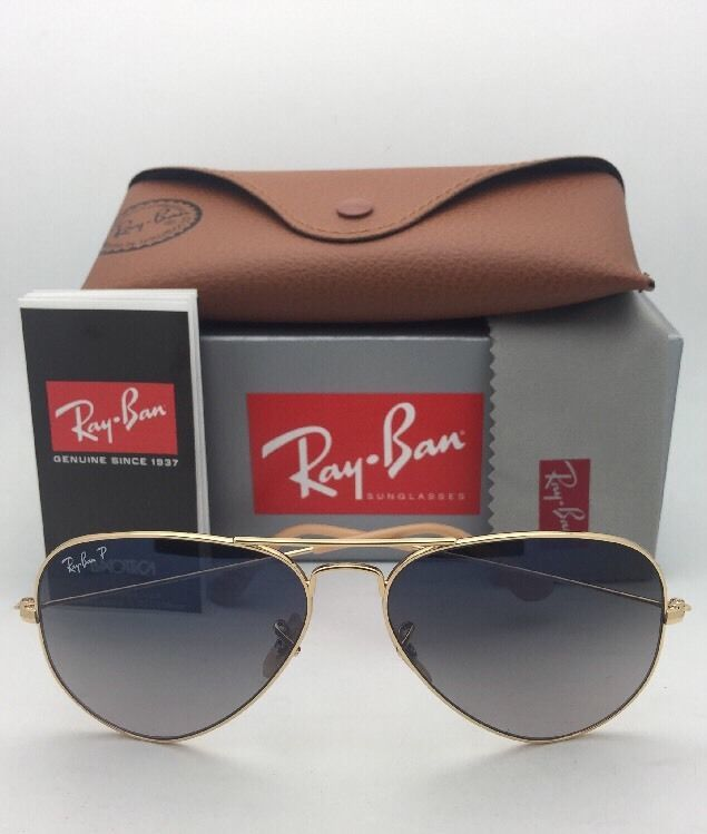 39da9904aa Polarized Ray-Ban Sunglasses Large Metal RB 3025 001 78 58-14 Gold