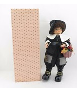 Brinn's Dolls November Calendar Clown black clothes with stand and COA 1986 - $53.95