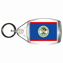 Belize country flag  keyring  handmade in uk from uk made parts, keyring, keyfob