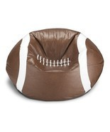 Football Bean Bag Chair Cozy Sports Team Fan Teen Game Seat Dorm Beanbag... - €42,30 EUR