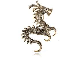 Alilang Womens Gold Tone Faux Pearl Ancient Zodiac Dragon Monster Brooch... - $15.24