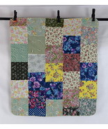 Vintage Patchwork Floral Reversible Baby Blanket Quilt Throw Cover Crib ... - $18.80