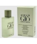 ACQUA Aqua Di Gio Giorgio Armani 3.4 EDT Fragrance Spray Men NIB Cologne... - $51.58