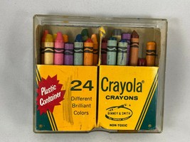 Vintage Box of Crayola Crayons in Plastic Container - Pre-owned - $9.50