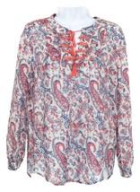 J Crew Women's Popover Blouse Shirt Top  Liberty Aaron Paisley Embroider... - $64.39