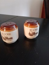 """St Louis Salt and Pepper Shakers"""" Gateway To The West"""" Made in Taiwan image 1"""
