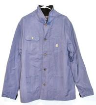 Carhartt Chore Women's Blue Dusk Flannel Lined Coat Jacket Size 2XL