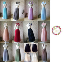Light Blue Wedding Tulle Skirt High Waisted Full Long Tulle Skirt image 7