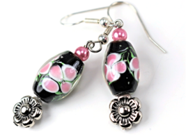 Handcrafted Lampwork  Earrings - $10.00