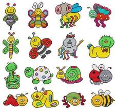 Cute Bugs cross stitch chart Cross Stitch Wonders - $11.70