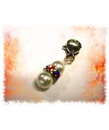 Rainbow Pearl Purse Charm / zipper / keychain - $8.00