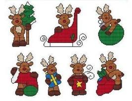 Winter Reindeers cross stitch chart Cross Stitch Wonders - $10.80