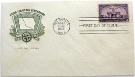 August 24, 1938, First Day of Issue Cover, Iowa Territory Centennial #17 - $2.09
