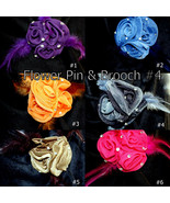 Wholesale Lady Rose Flower Brooch Clip Pin Bridal Party Hair Holder Head... - $7.95