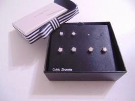 City by City Set of 4 Cubic Zirconia Stud Earrings  C208 - $9.55