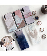 Phone Case Glitter Marble For Huawei P30 P20 Lite Pro Mate 20 Pro Soft C... - $5.78+