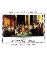 Guyana 1993 Tableaux/Louvre Musée S/S MNH Empereur Napoléon Coronation, ... - €1,10 EUR