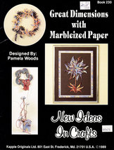 GREAT DIMENSIONS WITH MARBLEIZED PAPER KAPPIE ORIGINALS BOOK - $3.50