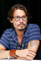 Johnny Depp With Glasses and Tattoo's 18x24 Poster - $23.99