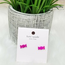 New Kate Spade Candy Shop Stud Earrings Pink Wrapped Novelty - $29.70
