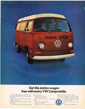 Vintage 1971 Magazine Ad Volkswagen Station Wagon Free With Every Campmobile - $5.93