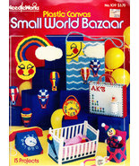 PLASTIC CANVAS SMALL WORLD BAZAAR NEEDLEWORKS NO. 109 - $4.50