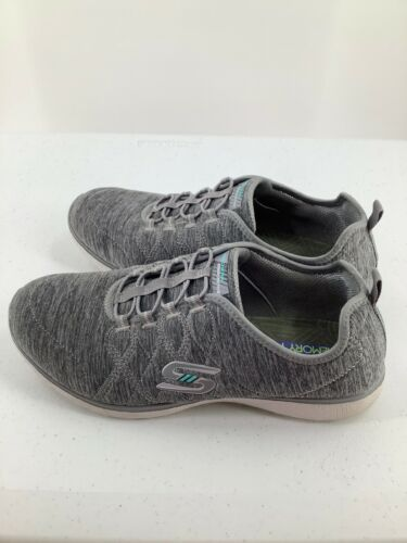 Skechers 9.5 Shoes Air Cooled Memory Foam SN23315 Grey Athletic image 6