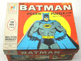 1966 MB Milton Bradley The Batman Jigsaw Puzzle Game #4693 Complete 4 Player - $42.06