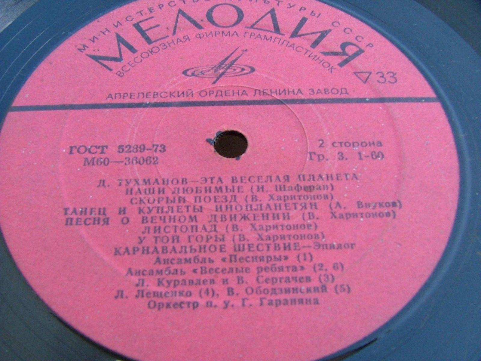 "TUKHMANOV ""THIS MERRY PLANET "" Funk Orchestra 1973 LEGENDARY GROOVE MELODIYA"