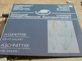 Rozhdestvensky Bashmet.Schnittke Concerto For Viola & Orchestra Melodiya NM image 1