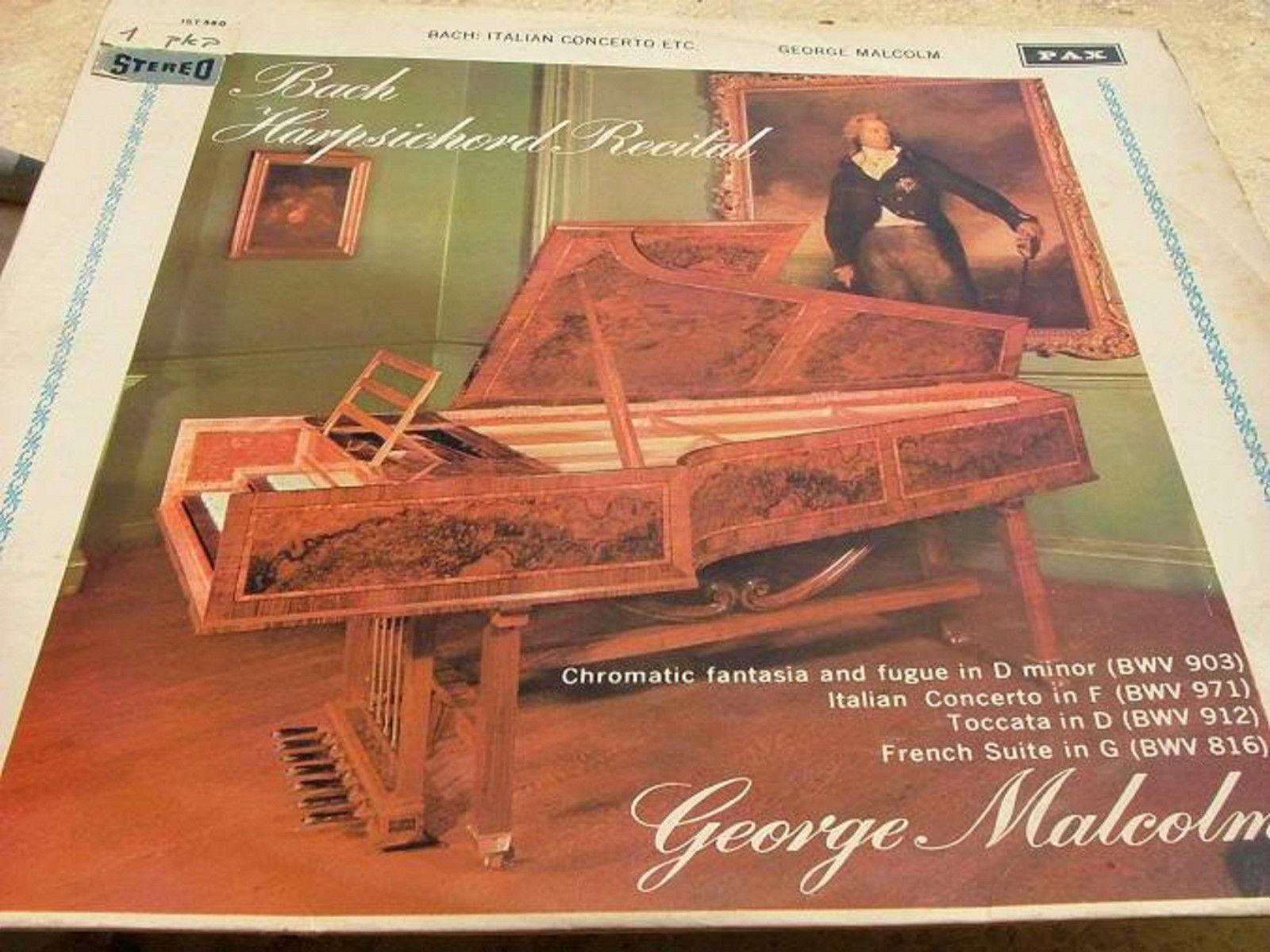 GEORGE MALCOLMC - BACH ITALIAN CONCERTO etc RARE LP RECORD MADE IN ISRAEL