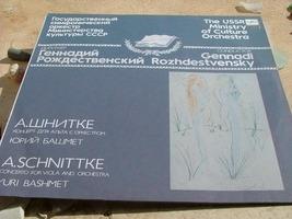 Rozhdestvensky Bashmet.Schnittke Concerto For Viola & Orchestra Melodiya NM image 4